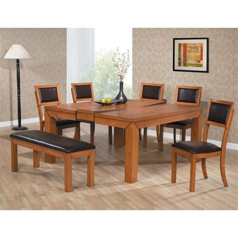 Home Design Aria White Oak And Glass Square Dining Table Dining Table For 8