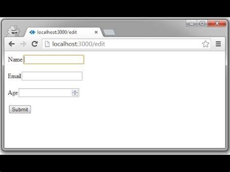 simple node js form forms using jade node js youtube