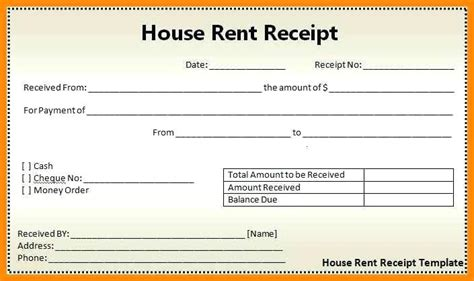 house rent receipt template doc house rent receipt pdf printable rent receipt template