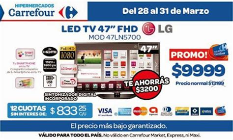 Tv Led Di Carrefour tecno promos argentina promo carrefour tv led lg 47 quot