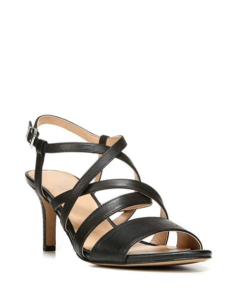 franco sarto black sandals franco sarto olian leather slingback sandals in black lyst