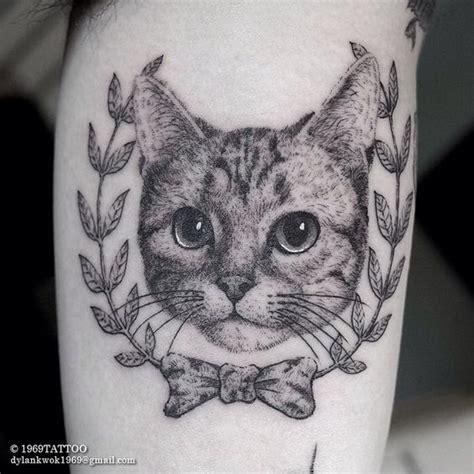 cat face tattoo designs 50 amazing dotwork design golfian