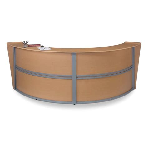 Ofm Reception Desk Ofm Marque Series Unit Curved Reception Desk In Maple 55292 Mpl