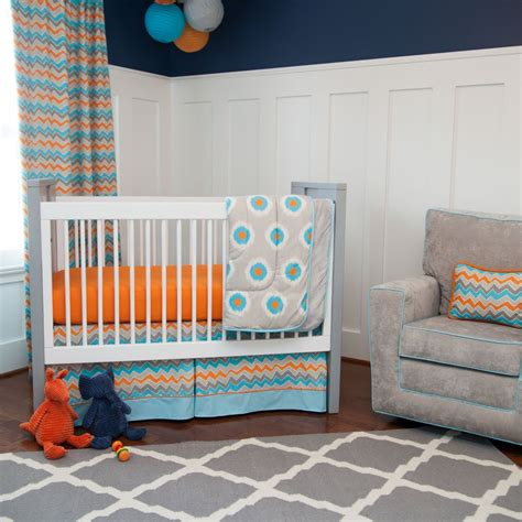 Blue And Orange Nursery Crib Sets Bedding For Baby Girls Orange And Blue Crib Bedding
