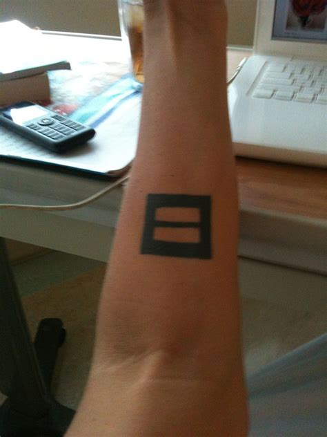 equal sign tattoo my equal rights cool tatts