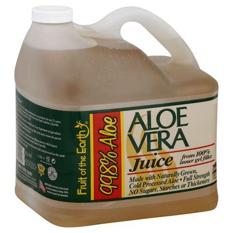 Heb Detox by Fruit Of The Earth Juice Aloe Vera 128 Fl Oz 1 Gl 3 785 Lt