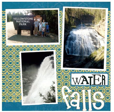 scrapbook layout waterfalls dcwv 174 taj mahal waterfalls n 2 scrapbooking pinterest