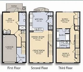 3 Story Townhouse Floor Plans 3 Story Townhouse Floor Plans 3 Story Townhouse