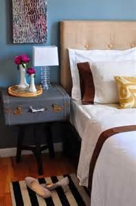 nightstand with suitcase interior design decor blog