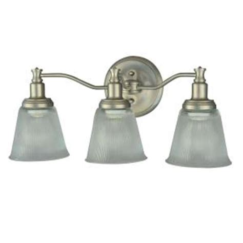 Bathroom Lighting Fixtures Home Depot Martha Stewart Living Wayland Collection 3 Light Brushed Nickel Plated Vanity Light V356nk03