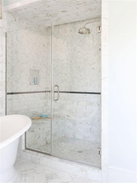 Tile Shower Ceiling by Glass Shower Design Traditional Bathroom Bhg