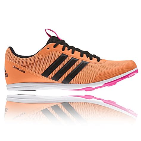 athletic running shoes spikes adidas distancestar womens orange athletic running track