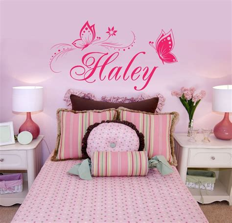 name wall stickers personalized name butterflies vinyl wall decal sticker
