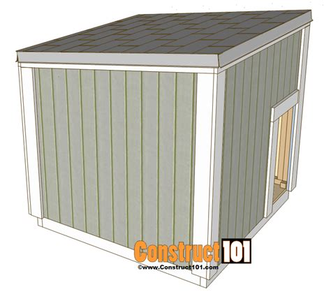 dog house shingles large dog house plans construct101