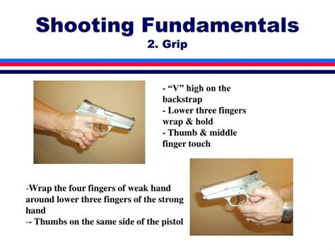 how to shoot a handgun handgun marksmanship fundamentals for real situations books ppt weapon basics powerpoint presentation id
