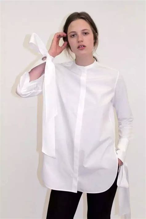 Cotton Blouse Size S M L 36709 2016 luxurious fashion white cotton blouse