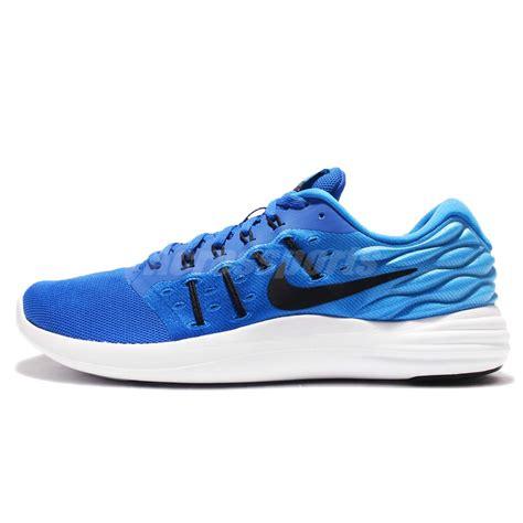 nike lunarstelos blue black mens running shoes sneakers