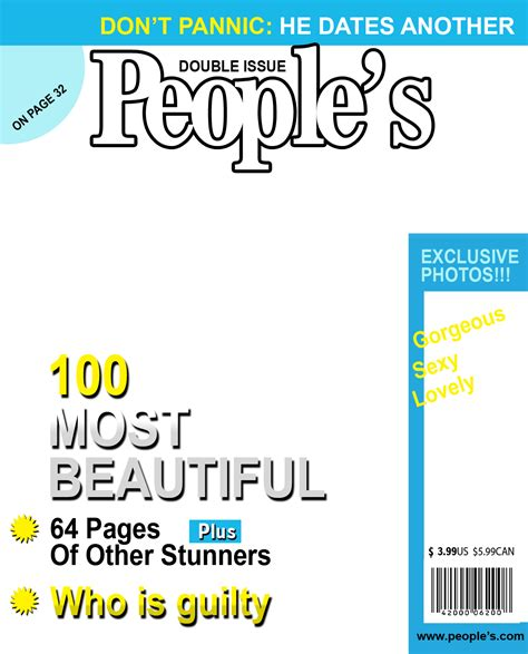 magazine cover templates png