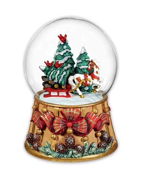 traditional christmas snowglobes breyer traditions musical snow globe saddleworld dural