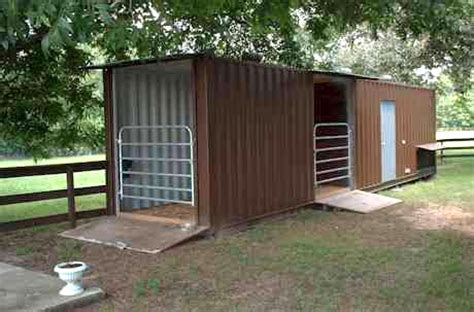 Temporary Awnings Shipping Container Horse Barn Containerauction Com