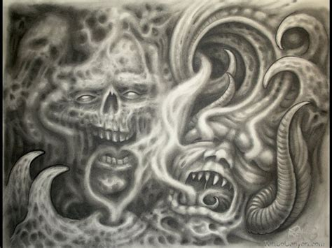 smoke tattoo designs skulls demons and smoke free