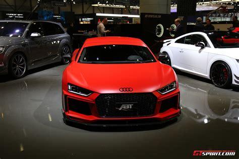 Audi R8 Abt by Geneva 2017 Abt Audi R8 V10 Gtspirit