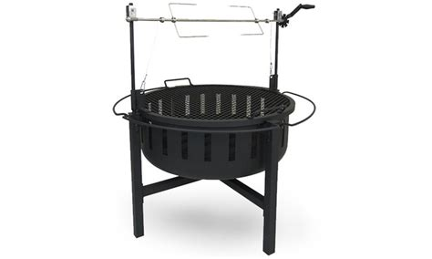 pit rotisserie landmann rock pit and rotisserie grill groupon