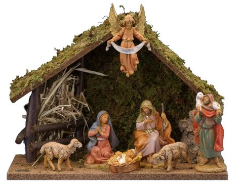 christmas manger sets 5 inch scale 7 nativity set by fontanini fontaninistore