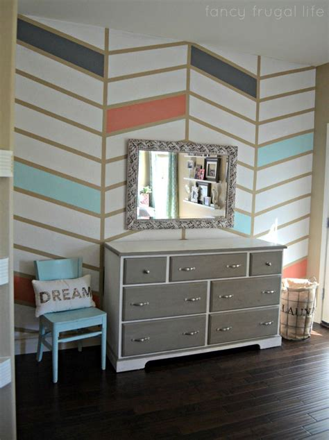 herringbone pattern accent wall herringbone pattern accent wall with tape in coral blue