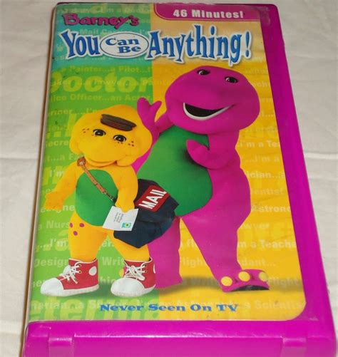 barneys you can be anything vhs songs children what