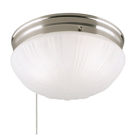 Pull Chain Light Fixture Westinghouse 6721000 Two Light Flush Mount Interior Ceiling Fixture With Pull Chain Brushed