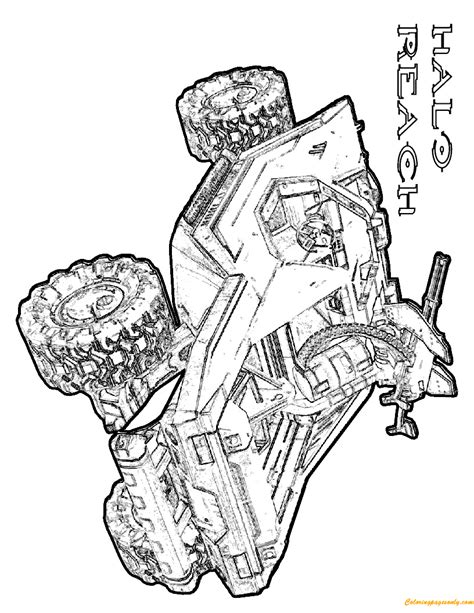 halo coloring pages online halo reach warthog coloring page free coloring pages online