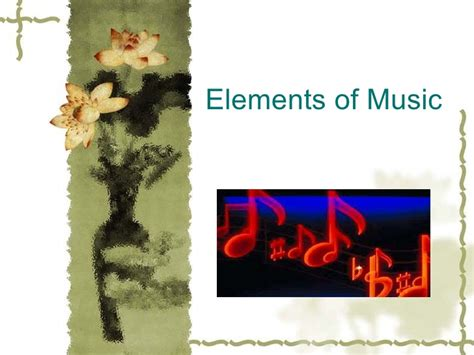elements music elements of music