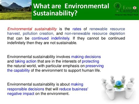 Sustainability Is by Environmental Sustainability In Sabah Justine Sentian