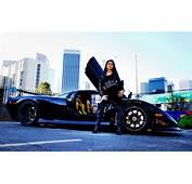 Mosler Raptor GTR Black Supercar With Girl Wallpaper
