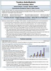 Cto Sample Resume resume sample chieftechnologyofficermanish page1