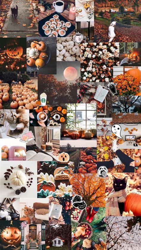 autumn halloween aesthetic background fall wallpaper
