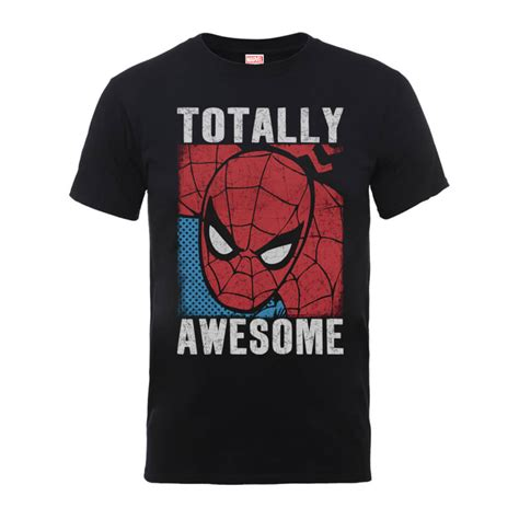 Awesom Of Black T Shirt Keren Print marvel comics totally awesome s black t shirt pop in a box uk