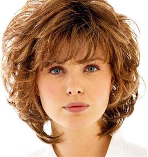 Shaggy Permed Hair | curly shag with wispy bangs curly shag haircuts for short