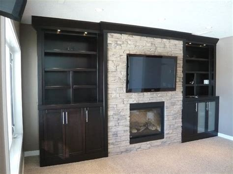 fireplace w built ins for the home