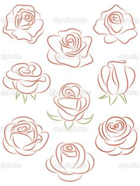 set of flowers vector illustration drawing flowers