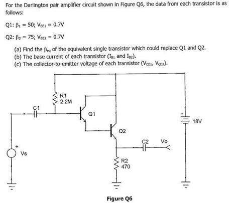 darlington transistor circuits for the darlington pair lifier circuit shown in