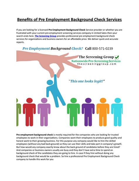 Pre Employment Background Check Taking Benefits Of Pre Employment Background Check Services By David Williams Issuu