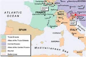 World War 1 Map by Europe After World War 1 Map