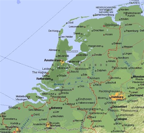 netherlands map and cities travel maps of amsterdam and netherlands