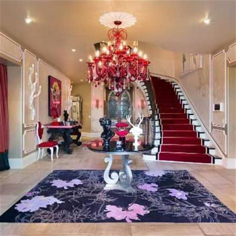 celebrity house interior pictures inside christina aguilera s mediterranean style home stately celebrity homes for