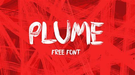 design font brush plume free brush font on behance