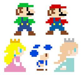 pixelated mario characters super mario 3d world pixel characters by greenmachine987