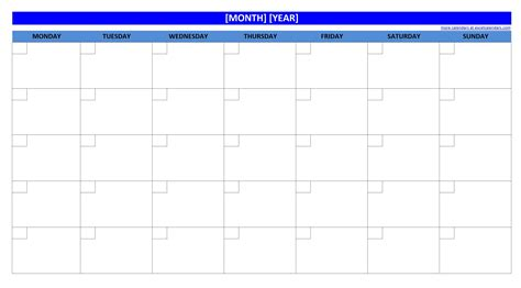 printable calendar no dates blank monthly calender calendar template 2016