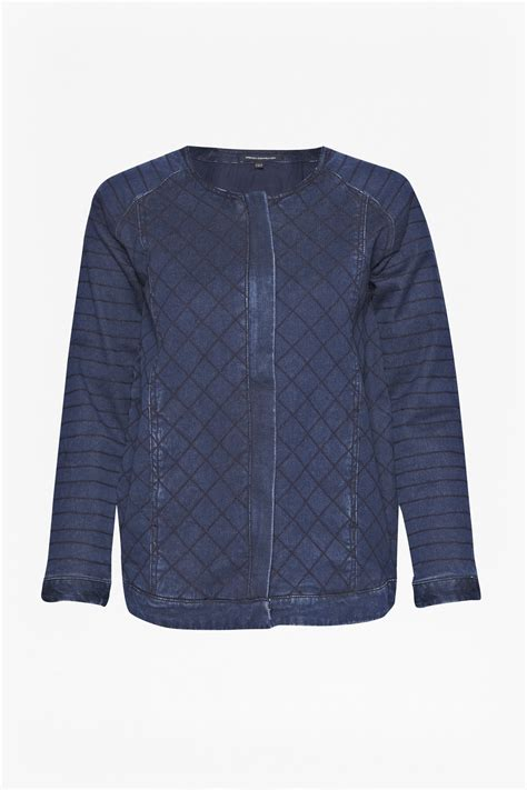 Quilted Denim Jacket by Connection Quilted Denim Jacket In Blue Lyst